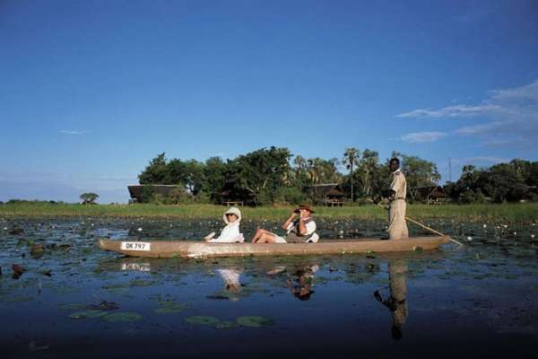 A type of canoe commonly used in the Okavango Delta