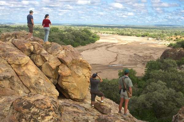 Hiking at Mashatu Game Reserve in the Tuli Block region