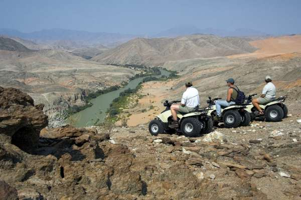 Overlooking the Kunene River which forms Namibia's northern border with Angola
