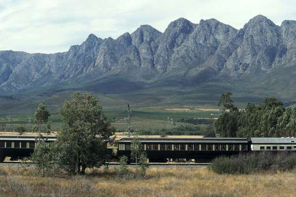 The luxurious Rovos Rail travels from Cape Town to Pretoria