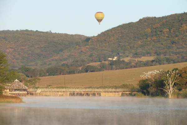 Sunrise hot-air balloon flights are a wonderful way to experience the beauty of South Africa's lowveld region