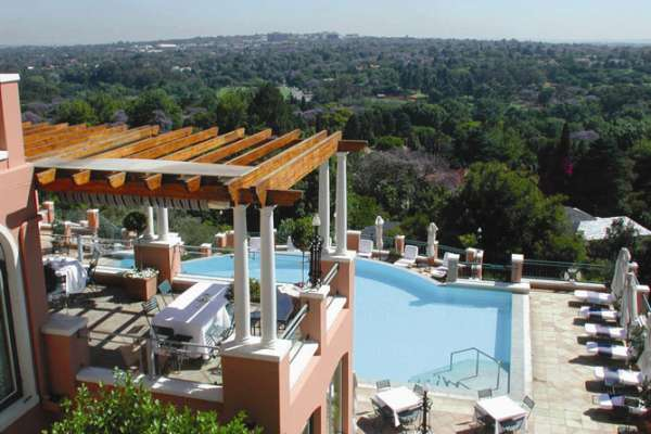The magnificent Westcliff Hotel in Johannesburg