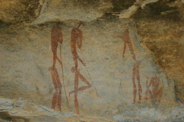The rock art legacy of the San:Bushmen can be seen at many sites in the Cederberg Mountains north of Cape Town