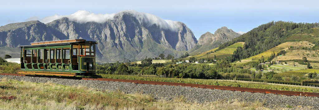 tour Franschhoek winelands by tram