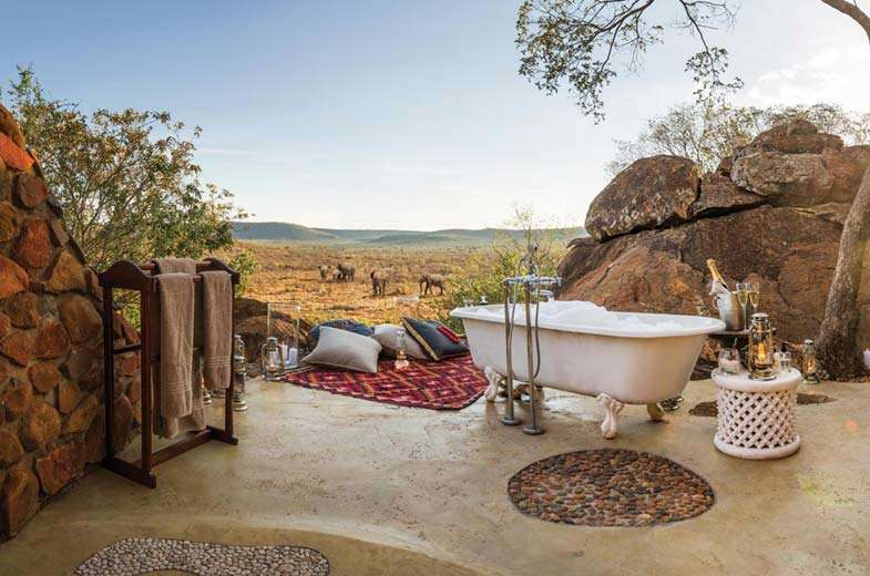A relaxing end to the day at Madikwe Hills