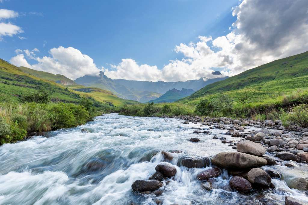 Tugela River in the Drakensberg, South Africa