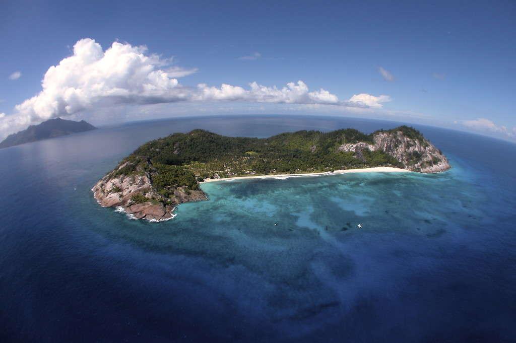 North Island aerial, Seychelles