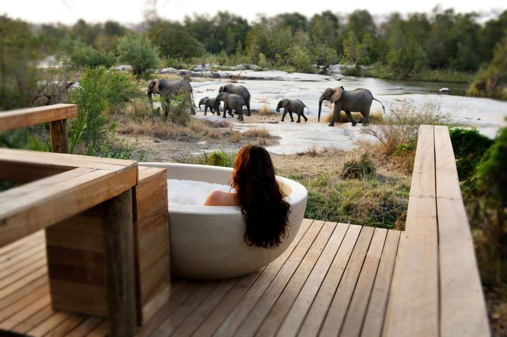 Bath bubbles ellies Granite Lodge, Londolozi