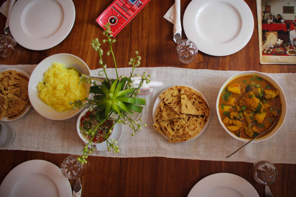 Traditional Cape Malay meal